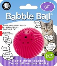 PETQWERKS KITTY CAT TALKING BABBLE BALL PLASTIC TOY. FREE SHIPPING TO THE USA