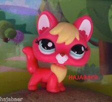 •●★ღ Littlest Pet Shop PINK FUCHS / FOX / RENARD #2642 ღ★●• RAR ★ HASBRO NEU
