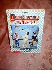 BABYSITTERS CLUB, LITTLE SISTER #47, KAREN'S KITE, USED
