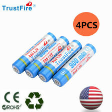 Trustfire 4pcs AAA Rechargeable Batteries Ni-Mh 900mAh 1.2v Garden Solar Light