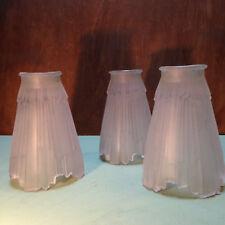 Three glass Art Deco lampshades; around 1920