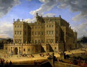 Giovanni Panini View of Castello di Rivoli Poster Giclee Canvas Print
