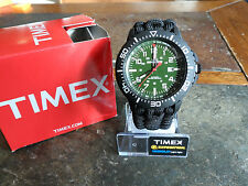 NEW! Timex Expedition Military Style Watch w/ Paracord Band & Adj Black Shackle