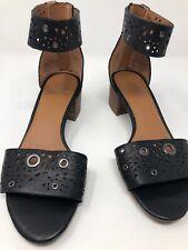 Franco Sarto Women's Size 5.5 Fidela 5 Sandal Black Nappa Zip Back 566