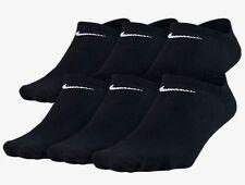 New Nike Women 6 Pair No-Show Socks BLACK 6-10  Medium SX4129-010 Tennis Running