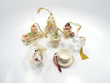 Lot of 7 Lenox, Gorham, & Starbucks Christmas Ornaments, with boxes