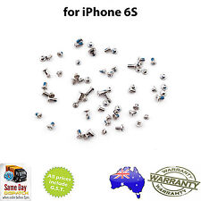 for iPHONE 6S - Full Set of Screws - with SILVER Pentalobe Screw