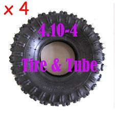 4pc  4.10/3.50-4 410/350-4 Tire & Tube Fr Garden Rototiller Snow Blower Go Cart