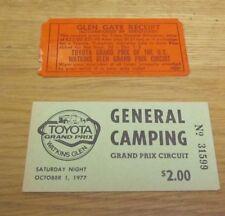 1977 Toyota Grand Prix of the United States Formula 1 Race Tickets Watkins Glen