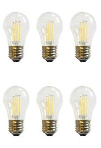 (6)-Bulbs LED A15 40W 120V Refrigerator or Freezer Light Bulb E26