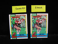 2ct  ERROR & CORRECTED 1990 Jerry Rice Topps All Pro Cards  #8 .... Pics