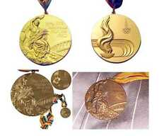 1980 Moscow Olympic Medals Set (Gold/Silver/Bronze) with Ribbons & Display  !!!