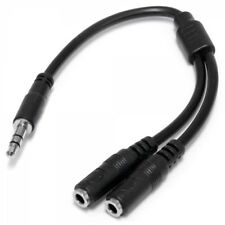 Slim Stereo Splitter Cable - 3.5mm Male to 2x 3.5mm Female