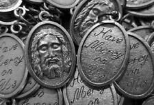 HUGE Catholic Italian Holy Face of Jesus - 100 Medal Lot - FREE IN USA SHIPPING