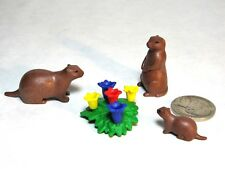 Playmobil Animals Marmot Ground Hog Family Flowers Plant Wildlife Zoo Landscape