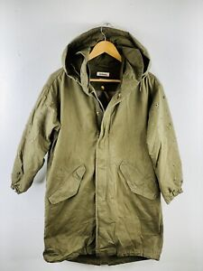 Roy Rogers Men's Vintage Ski Snow Windproof Hooded Lined Zip Coat Size M Green