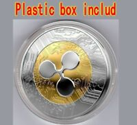 NEW!Ripple coin Gold Plated Physical XRP Coin Collectible coin with Plastic Box