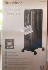 OmniHeat Oil Filled Radiator Heater #CYWE08-7 1500 watts Large Room Sized-NEW