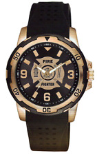 Aqua Force Firefighter Etched Dial Silicon Strap Watch (30M Water Resistant)