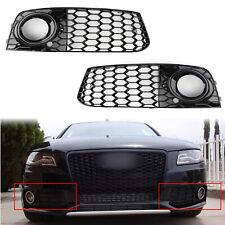2x Rs4 Style Honeycomb Mesh Fog Light Grille de calandre Pour 09-12 Audi A4 B8 ,