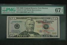 2009 Fr 2131-A* Star $50 PMG 67 EPQ Superb Gem Boston