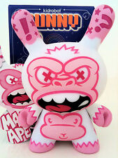 """DUNNY 3"""" 2009 SERIES MAD ALBINO APE WHITE PINK KIDROBOT VARIANT CHASE TOY FIGURE"""