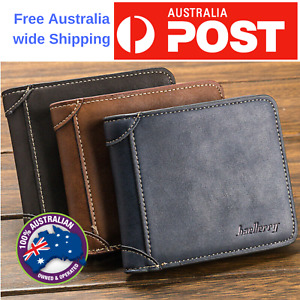 leather man wallet Purse credit Card slot Men's Money bag nurse id card holder