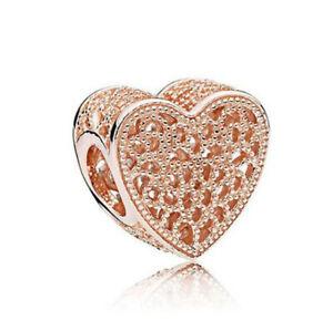 1pcs rose gold CZ European Charm Beads Suit Bracelet Necklace Pendant Chain