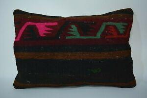 Kilim Pillow, Vintage Kelim Pillow Cover, Turkish Handmade Pillow, Antique 16x24