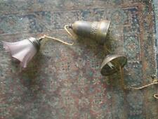 Art Deco Hänge Lampe, Glasschirm, höhenverstellbar, um 1930,