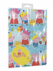 Peppa Pig Happy Birthday Wrapping Paper 2 Sheets/2 Tags
