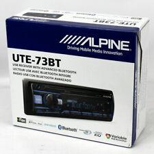 ALPINE UTE-73BT SINGLE-DIN DIGITAL MEDIA BLUETOOTH AM/FM TUNER RECEIVER UTE73BT
