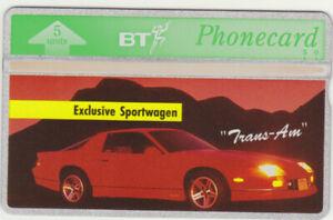 BT Overseas 21 Car, Sportwagen - Trans Am, Mint Phonecard