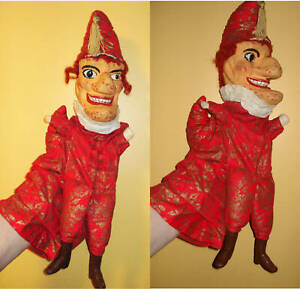Punch & Judy Professional Set-NOT A TOY-Finis Robinson-10 Puppets-vFINE-aF