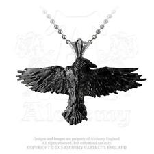 Alchemy - Black Raven - Pewter Pendant