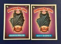 1986 Topps #180a HAUNTED HOLLIS  180b BATTY BARNEY Lot 2 Garbage Pail Kids GPK