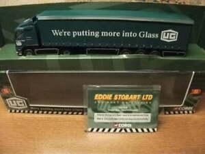 1:64 CORGI  - UNITED GLASS/EDDIE STOBART   VOLVO CURTAINSIDER