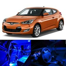 For 12-Up Hyundai Veloster Interior Blue Light LED Bulb Package Xenon Kit 7pcs