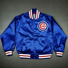 100% Authentic Chicago Cubs Mitchell Ness Jacket Size L 44 Mens