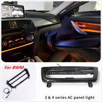 Car AC Panel Radio LED Light Dash Trim Decoration for BMW 3 / 4 Series F30