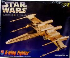 Star Wars AMT ERTL Gold X-Wing Fighter Limited Edition Model Kit 1995 New