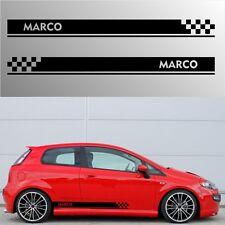 adesivi fasce auto con nome personalizzato stickers tuning racing abarth