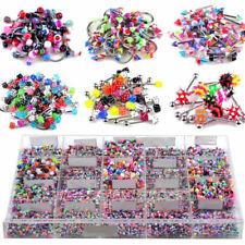 110pcs Gros Lots Mixte Lip Piercing body Jewelry Barbell Anneaux Tongue Ring
