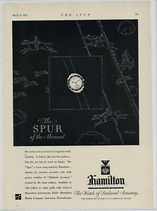 1929 Hamilton Watches Ad: The Spur Strap Watch - Watch of Railroad Accuracy
