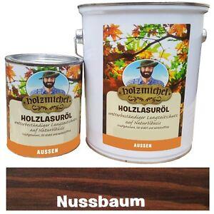 (10€/L) 0,75L Nussbaum Holzmichel Holzlasuröl Wetter Langzeitschutz Außenbereich
