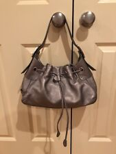 Authentic Cole Haan Metallic Hobo Shoulder Handbag Adjustable Strap