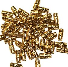 50 x Antique Gold Tone Tibetan Style Tube Beads Jewellery Making Findings