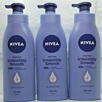 PACK OF 3- Nivea Body IRRESISTIBLY SMOOTH LOTION  with Shea Butter 400ml