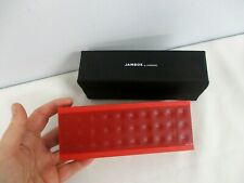 RED JAWBONE JAMBOX PORTABLE WIRELESS SPEAKER ~ EXCELLENT CONDITION