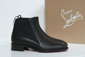 sz 9 / 39.5 Christian Louboutin Marmada Black Leather Ankle Pull on Boot Shoes
